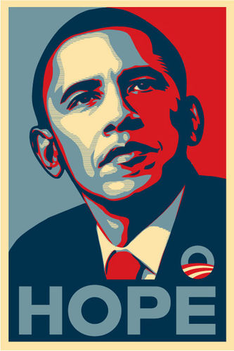 Barack-is-hope by Shephard Fairey