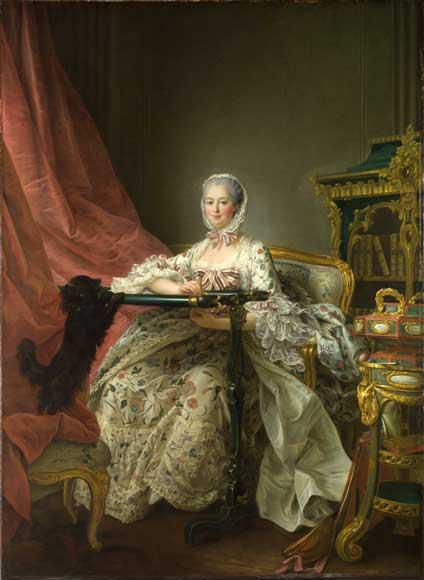 Madame de Pompadour at her Tambour Frame by François-Hubert Drouais