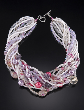 ©2011 Lindsay Obermeyer Lilac and Peonies Necklace  photo credit to Larry Sanders