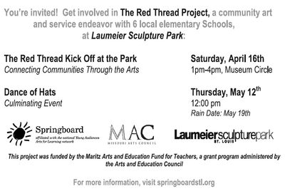The Red Thread Project ® 2011 Back of postcard 2011