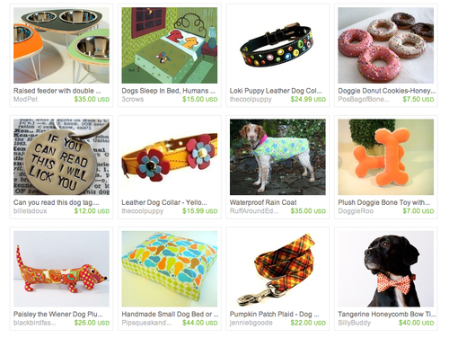 Etsy Treasury She's Gone for the Dogs