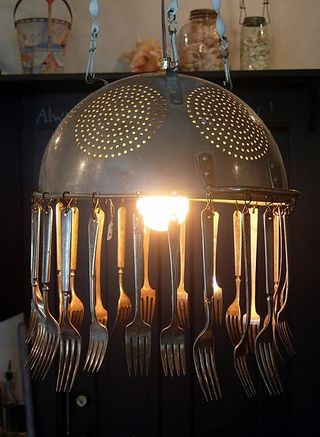 hutchstudioblogspot.com  DIY kitchen chandelier