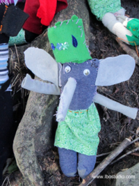 ©2012 Lindsay Obermeyer Sock Doll Elephant by a 7 year old