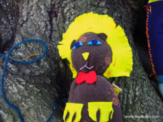©2012 Lindsay Obermeyer Sock Doll lion by a 10 year old