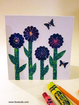 ©2012 Lindsay Obermeyer Crayon Card