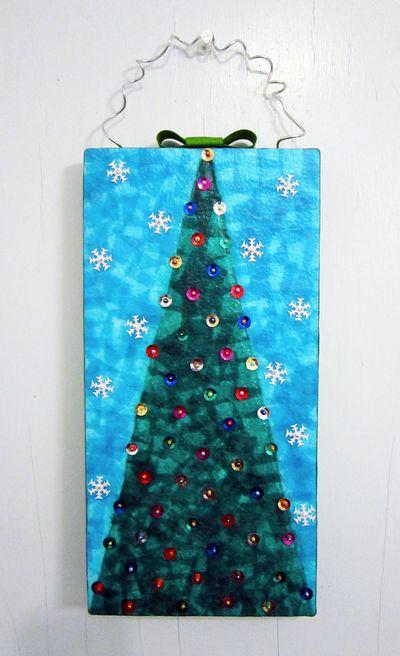 ©2012 Lindsay Obermeyer Mixed Media Holiday Decoration