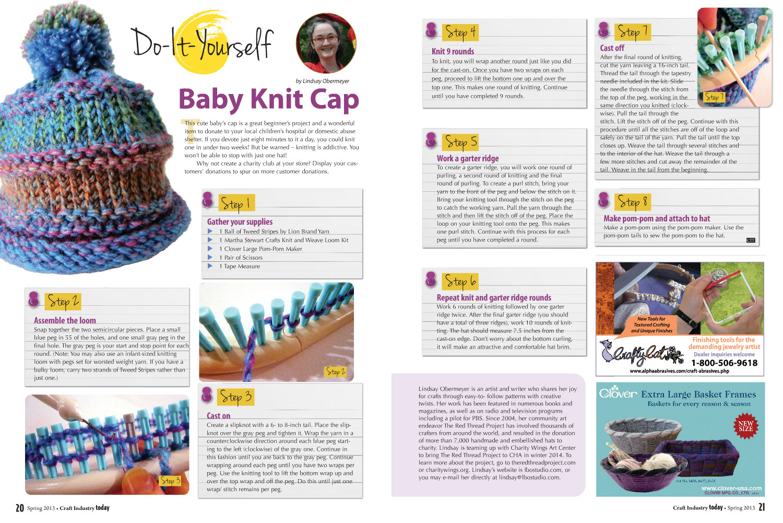 Free Pattern :: Loom Knit Baby's Cap (serendipity)