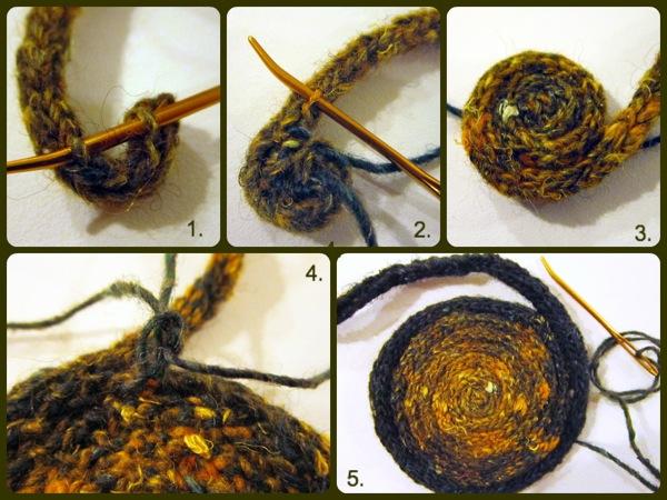 Free Pattern Spool Knit I Cord Coaster Serendipity