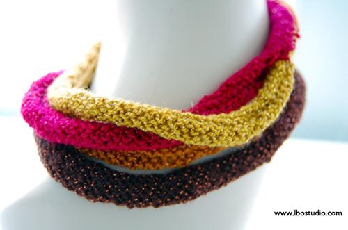 Lindsay Obermeyer Multistrand Knit Necklace2 copy