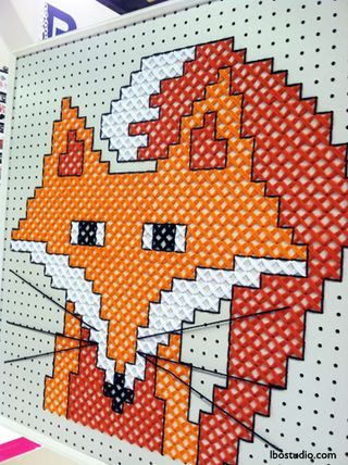 Lindsay-Obermeyer-CHA2014-Plaid-Fox-Embroidery-Display