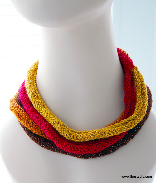Lindsay Obermeyer Multistrand Knit Necklace copy