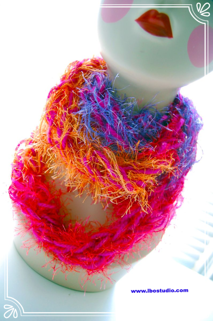 Free Pattern Zippy Knitting Loom Infinity Scarf Serendipity