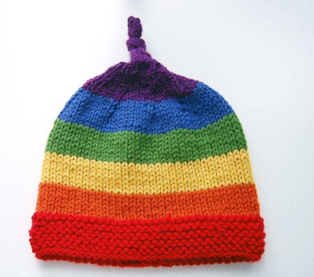 Free Pattern :: Rainbow Children\'s Hat / Beanie (serendipity)