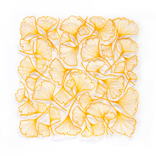 Golden+GInkgo+square+masked+1000 by Meredith Woolnough