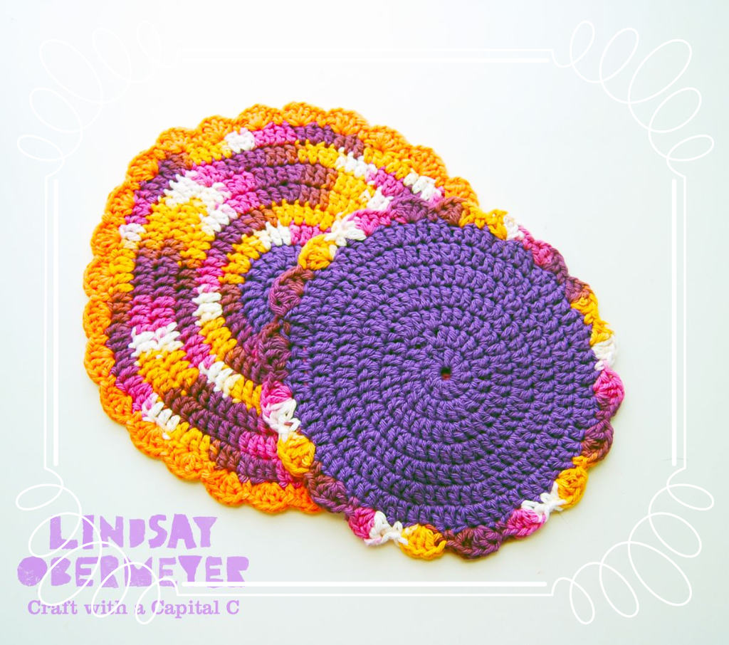 Free Pattern :: Easy, Quick Crocheted Floral Dishcloth (serendipity)