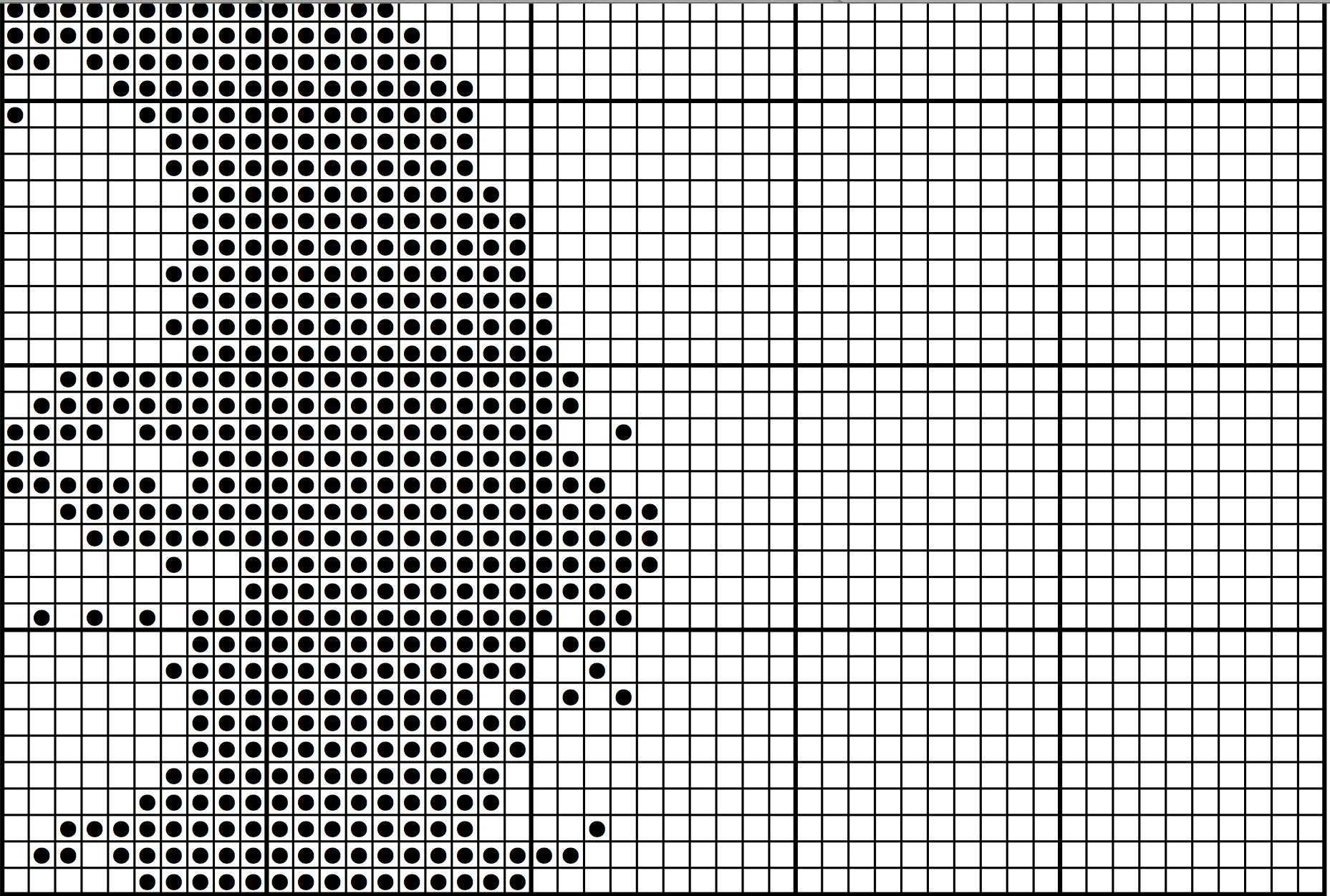 how to create filet crochet charts from your own photos. (serendipity)